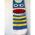 Monster - blue and yellow stripes
